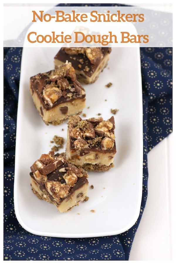No-Bake Snickers Cookie Dough Bars Recipe