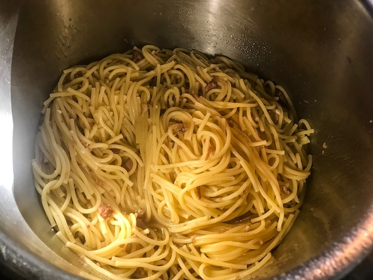 Pressure Cooker Bacon Garlic Ranch Spaghetti Recipe From Val's Kitchen