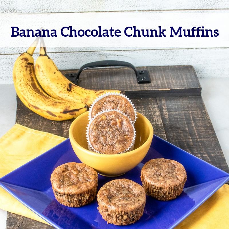 Banana Chocolate Chunk Muffins Recipe