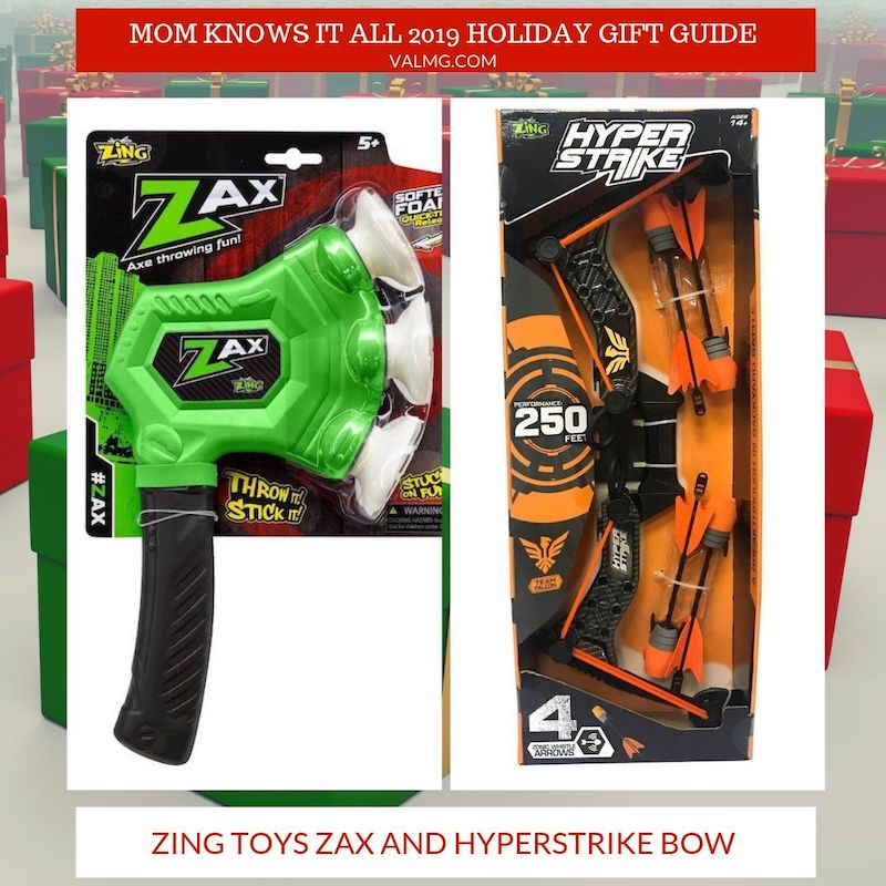 Mom Knows It All 2019 HOLIDAY GIFT GUIDE - Zing Toys Zax And Hyperstrike Bow