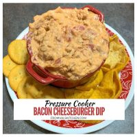 Pressure Cooker Bacon Cheeseburger Dip