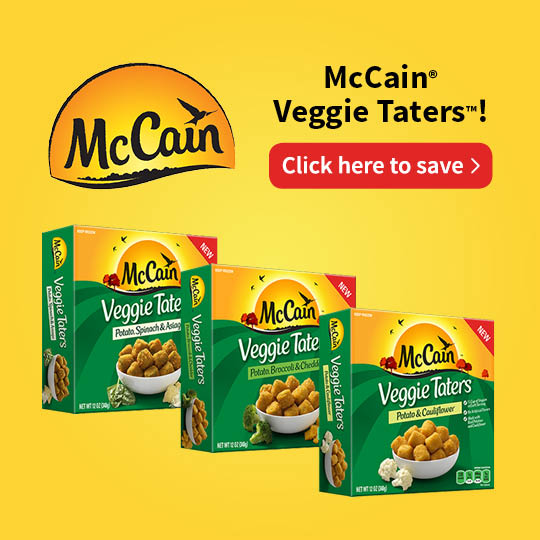 McCain Veggie Taters promo