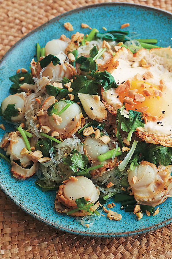 FROM VAL'S KITCHEN 2019 HOLIDAY GIFT GUIDE - Asian Noodles Cookbook With Stir-Fried Glass Noodles with Scallops and Eggs Recipe