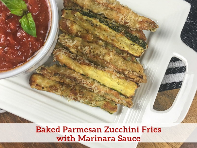 Baked Parmesan Zucchini Fries with Marinara Sauce Recipe