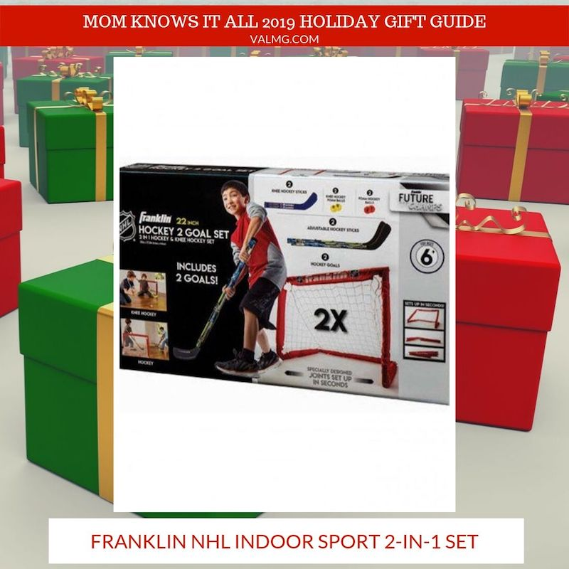 MOM KNOWS IT ALL 2019 HOLIDAY GIFT GUIDE - Franklin NHL Indoor Sport 2-In-1 Set