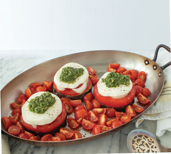 FROM VAL'S KITCHEN 2019 HOLIDAY GIFT GUIDE - Pesto: The Modern Mother Sauce With Leaning Eggplant Towers Recipe