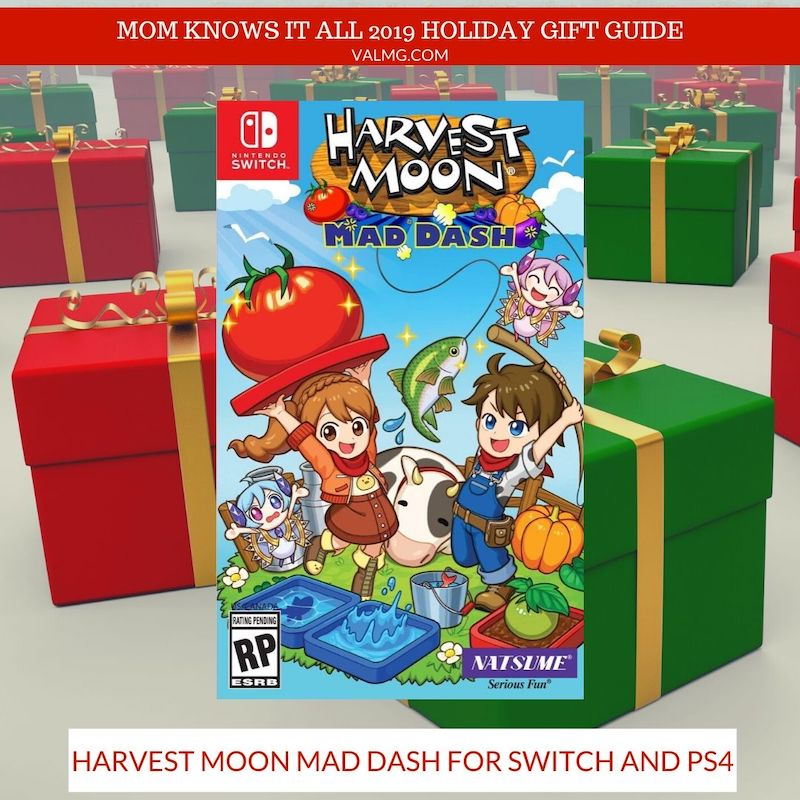 MOM KNOWS IT ALL 2019 HOLIDAY GIFT GUIDE - Harvest Moon Mad Dash For Switch And PS4