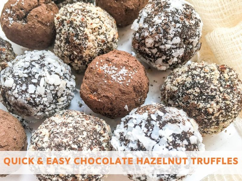 Quick And Easy Chocolate Hazelnut Truffles Recipe