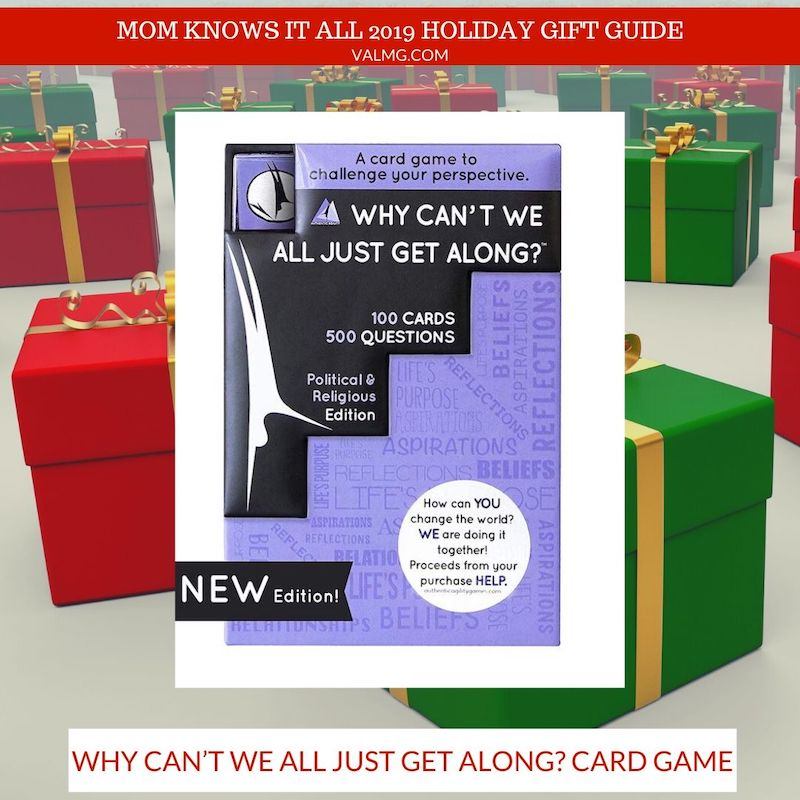 mom knows it all 2019 holiday gift guide - Why Can't We All Just Get Along? Card Game