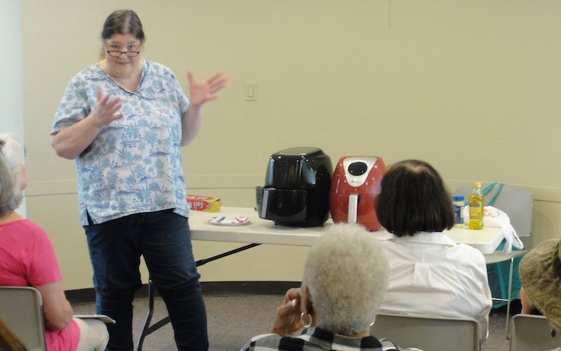 Air Fryer class at the Lawrence Branch of the Mercer County Library