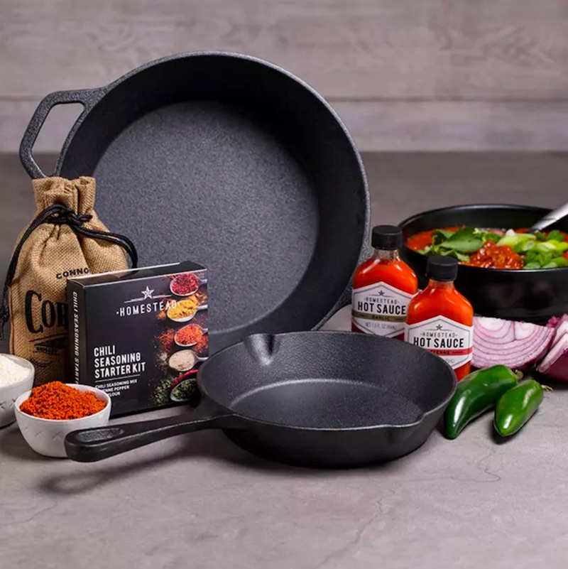 FROM VAL'S KITCHEN 2019 HOLIDAY GIFT GUIDE - Man Crates Cast Iron Cooking Kit