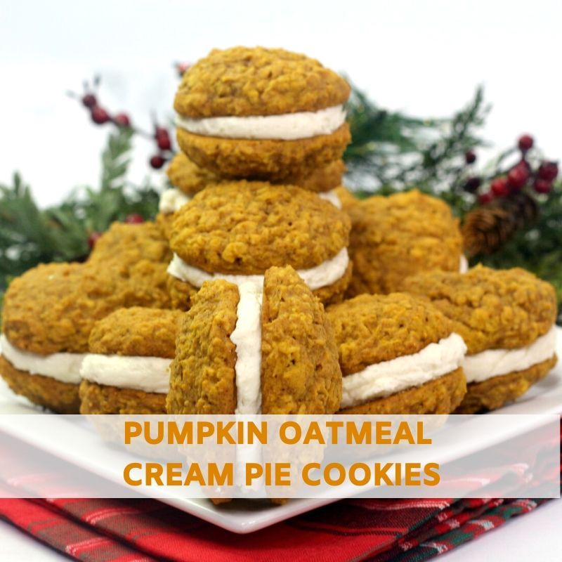 Pumpkin Oatmeal Cream Pie Cookies Recipe