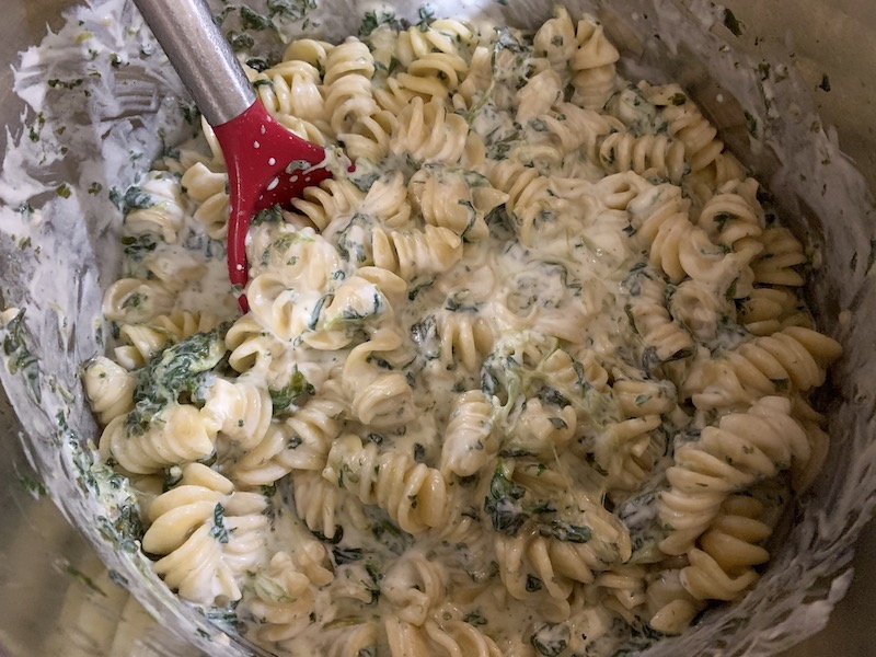 Pressure Cooker Spinach Ricotta Pasta Recipe From Val's Kitchen