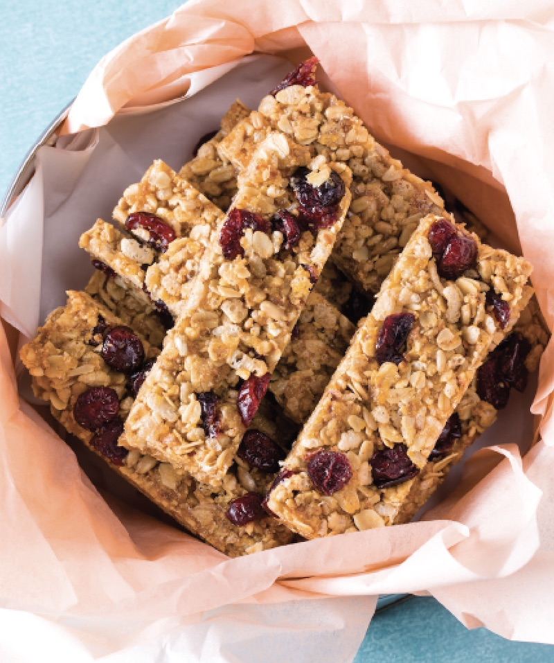 Chewy Granola Bars With Cranberries And Walnuts