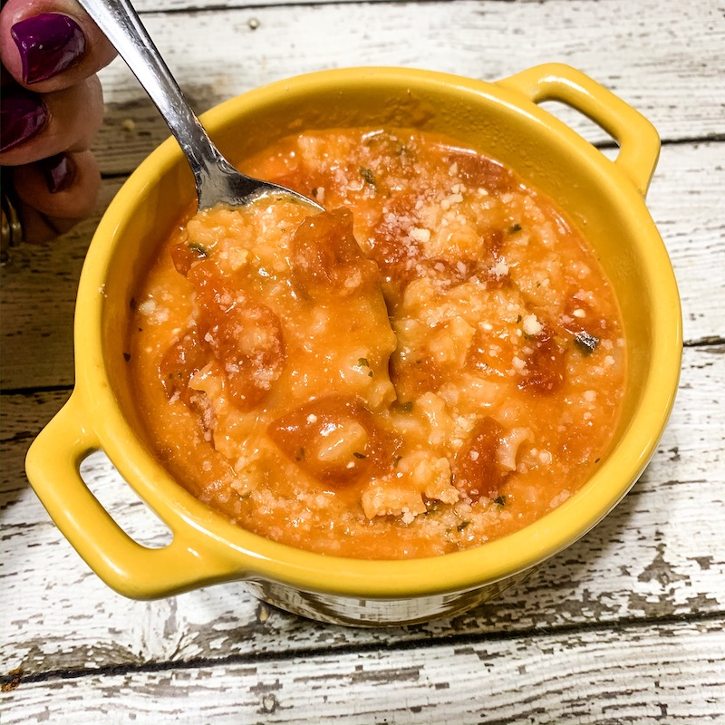 Pressure Cooker Creamy Tomato Rice Soup Recipe From Val's Kitchen