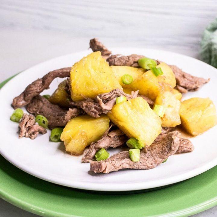 5-Ingredient Pineapple Beef Stir-Fry Recipe