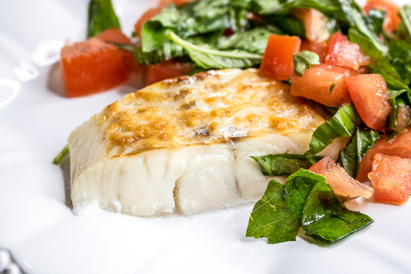 Parmesan Haddock with Fresh Tomatoes and Basil Recipe