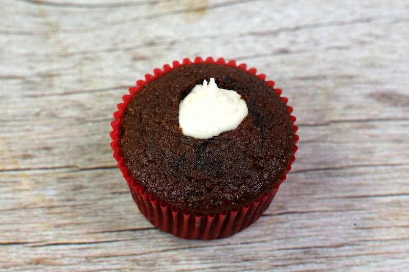 Cream Filled Chocolate Cupcakes Recipe (Perfect For Valentine's Day!)