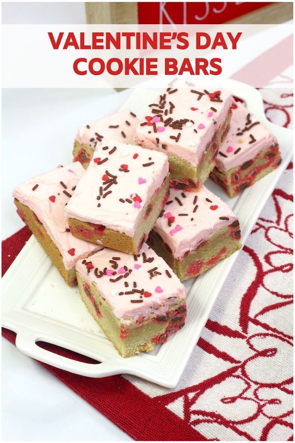 Valentine's Day Cookie Bars Recipe From Val's Kitchen