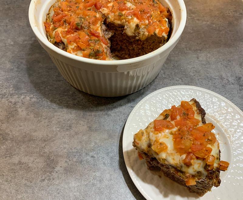 Air Fryer Bruschetta Meatloaf Recipe From Val's Kitchen