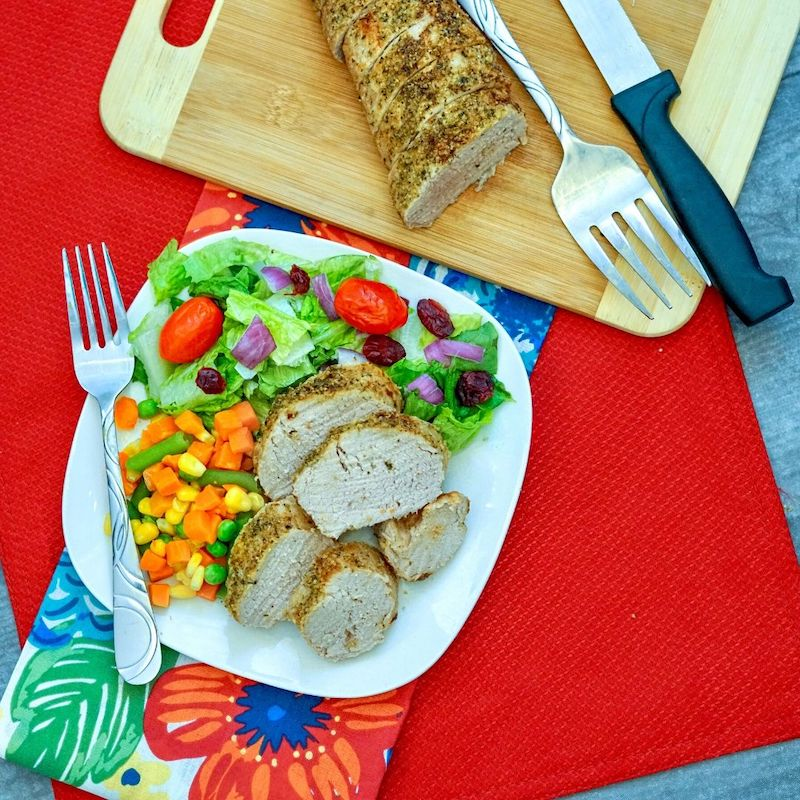 Air Fryer Garlic & Herb Pork Tenderloin Recipe From Val's Kitchen