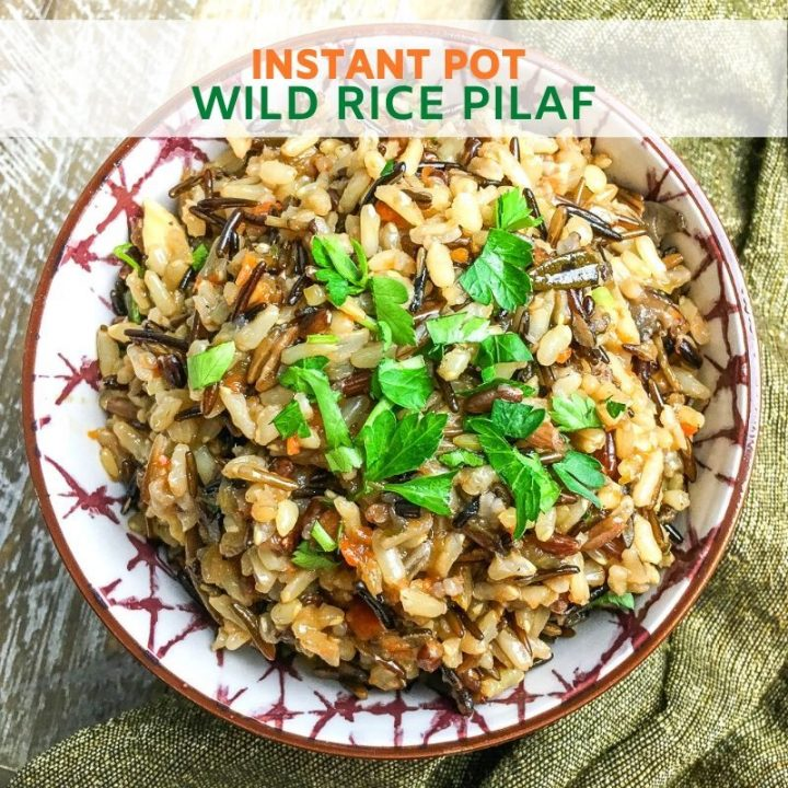 Instant Pot Wild Rice Pilaf Recipe