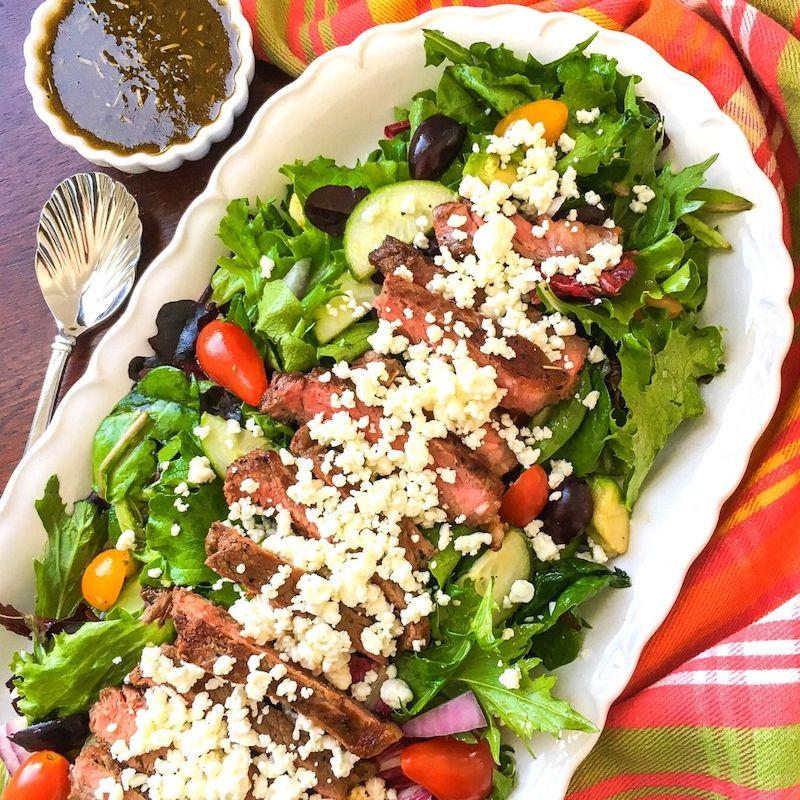Greek Steak Salad Recipe