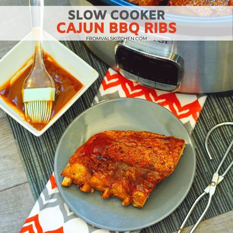 Slow Cooker Cajun BBQ Ribs Recipe