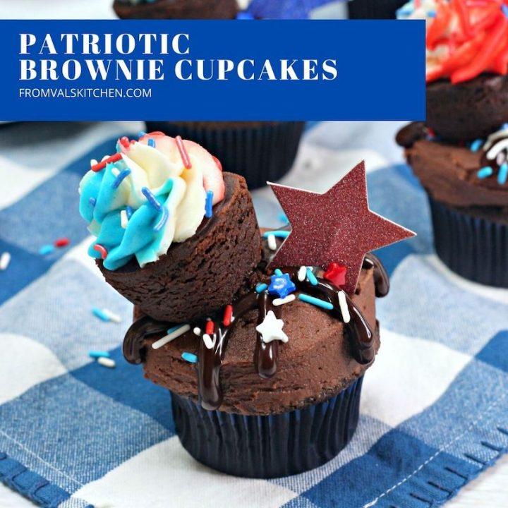 Patriotic Brownie Cupcakes
