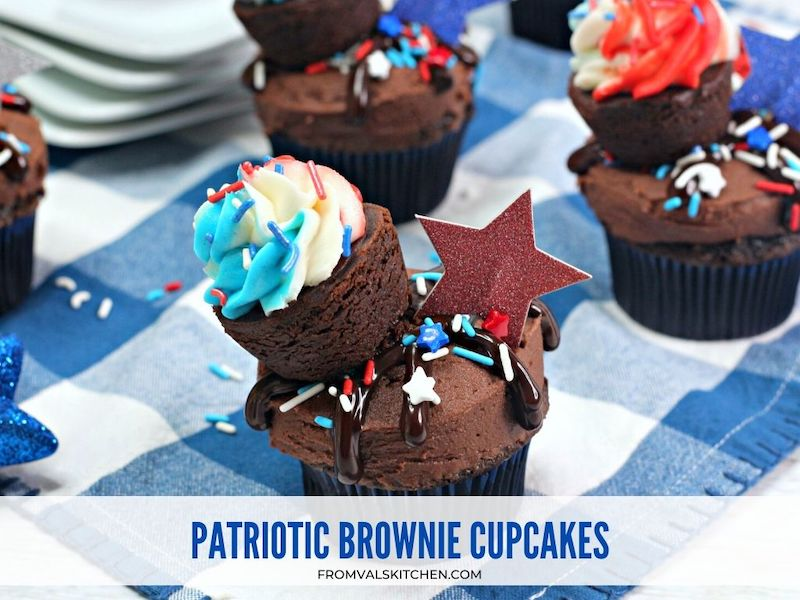 Patriotic Brownie Cupcakes Recipe From Val's Kitchen