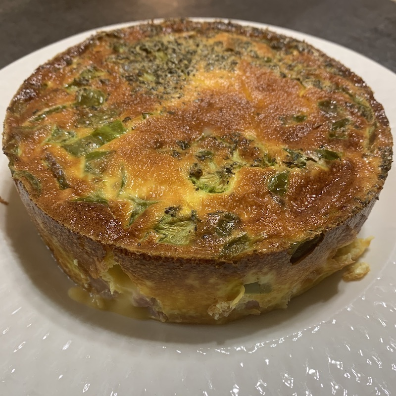 Air Fryer Ham And Cheese Frittata Recipe