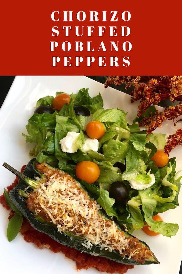 Chorizo Stuffed Poblano Peppers Recipe