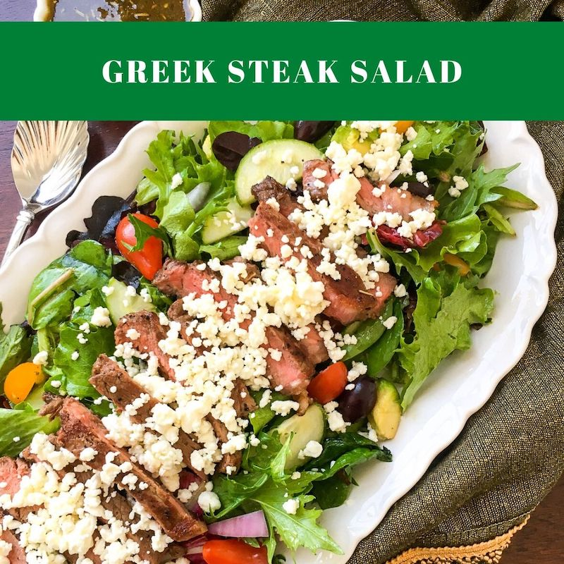 Greek Steak Salad Recipe