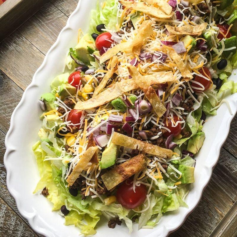 Hearty Beef Taco Salad Recipe
