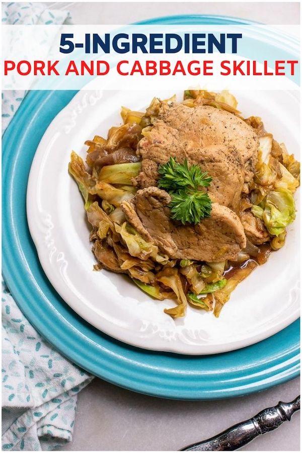 5-Ingredient Pork And Cabbage Skillet Recipe