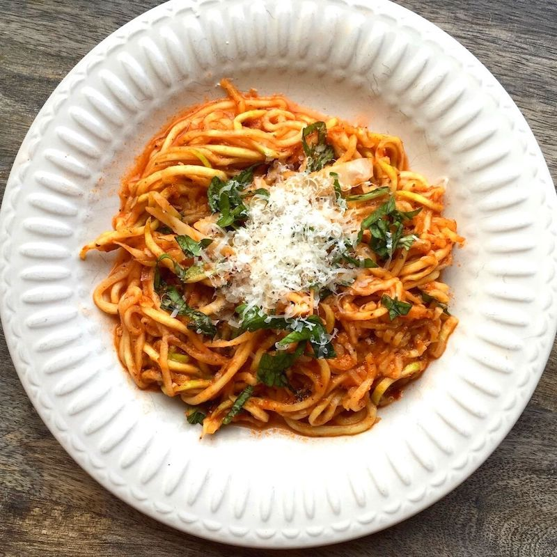 Zucchini Noodles with Arrabbiata Sauce Recipe