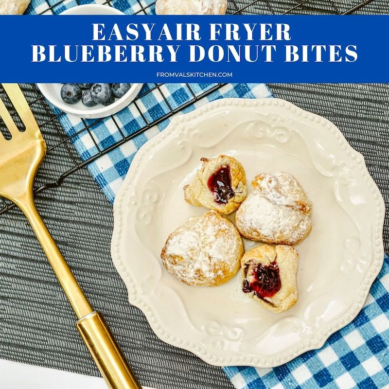 Easy Air Fryer Blueberry Donut Bites Recipe From Val's Kitchen