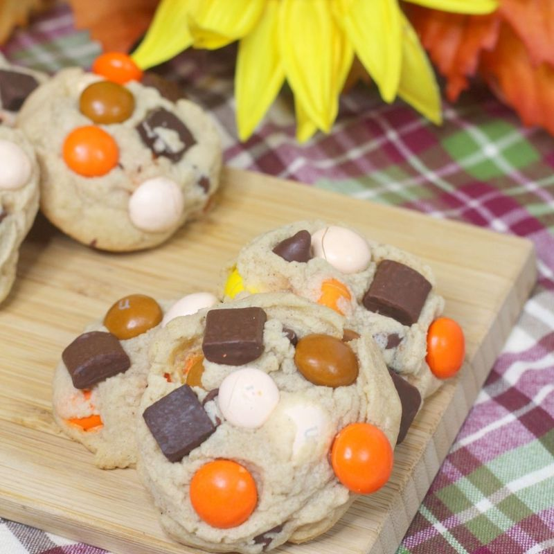 Pumpkin Spice M&M Chocolate Chip Cookies Recipe From Val's Kitchen