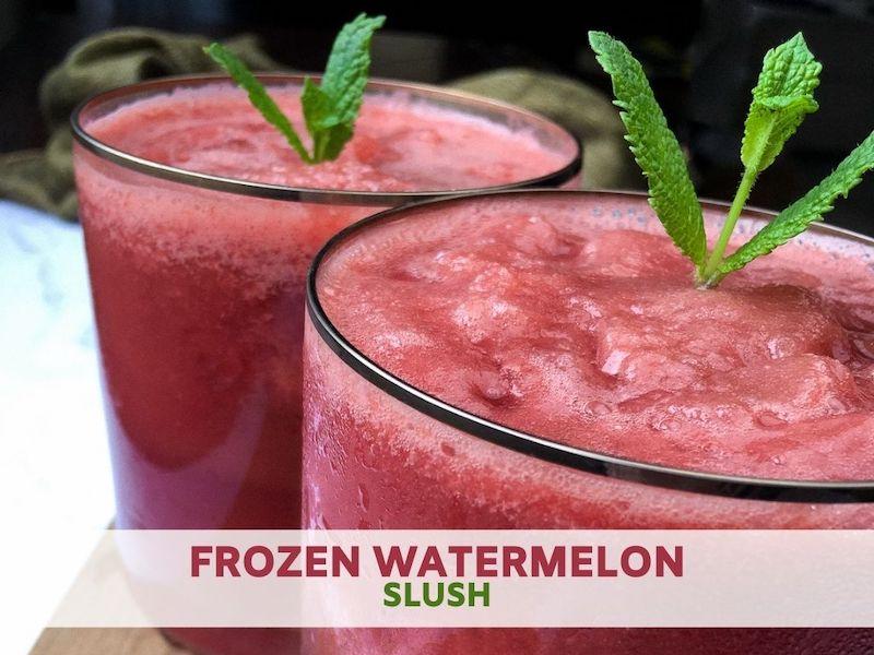 Frozen Watermelon Slush Recipe