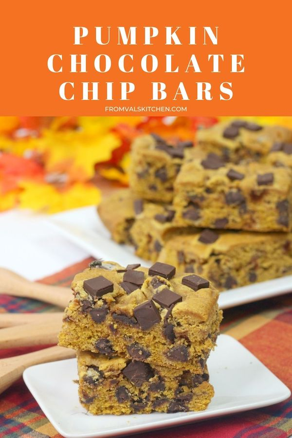 Pumpkin Chocolate Chip Bars Recipe From Val's Kitchen