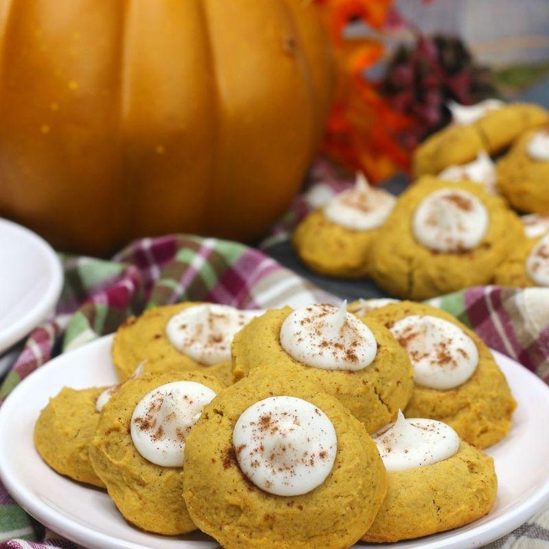 Pumpkin Thumbprint Cookies Recipe From Val's Kitchen