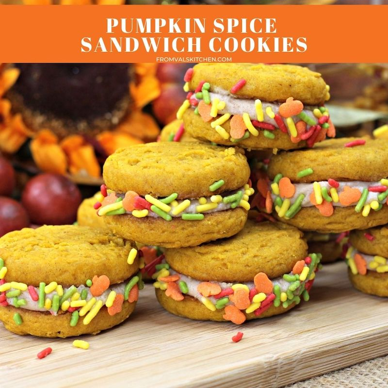 Pumpkin Spice Sandwich Cookies Recipe From Val's Kitchen