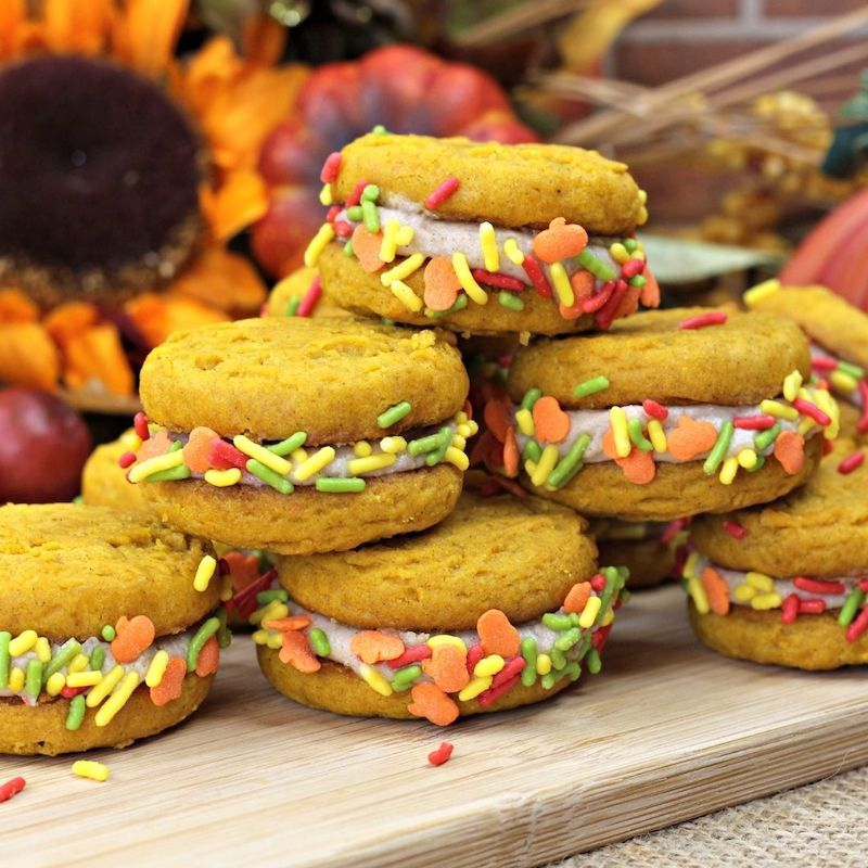 Pumpkin Spice Sandwich Cookies Recipe From Val's Kitchen