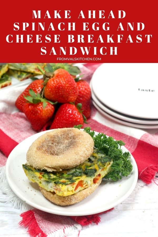 Make Ahead Spinach Egg And Cheese Breakfast Sandwich Recipe