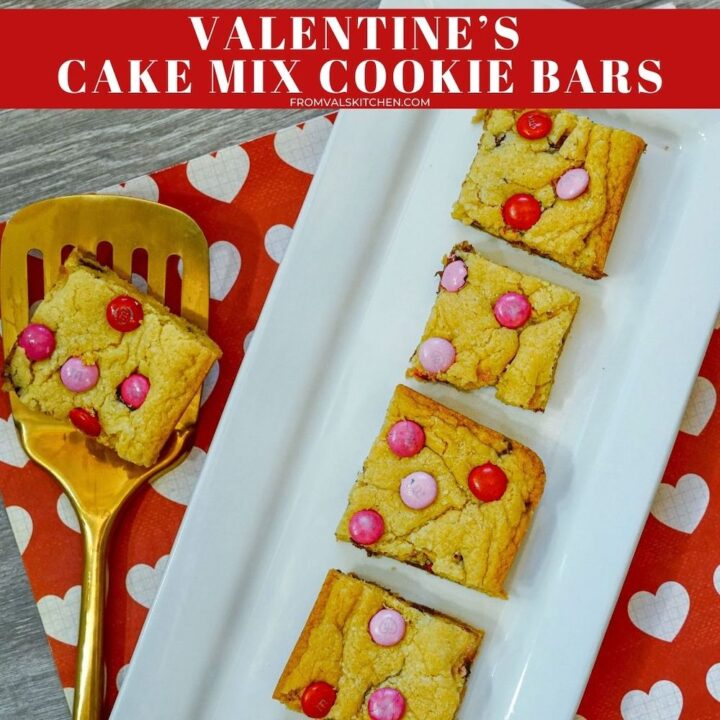 Valentine's Cake Mix Cookie Bars