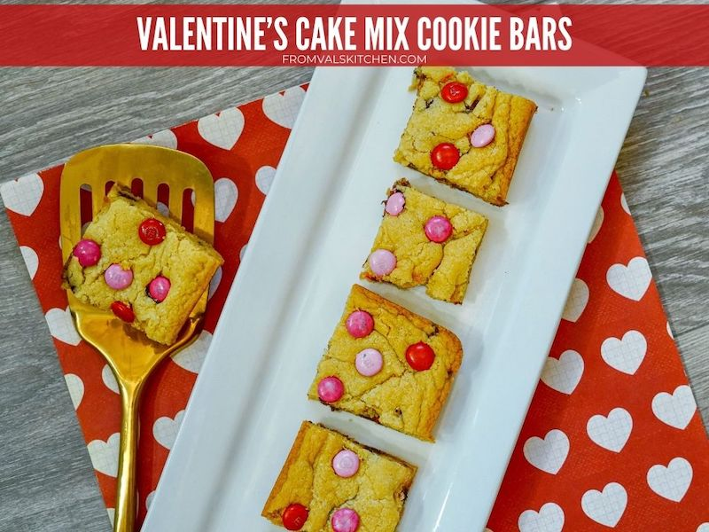 Valentine's Cake Mix Cookie Bars Recipe