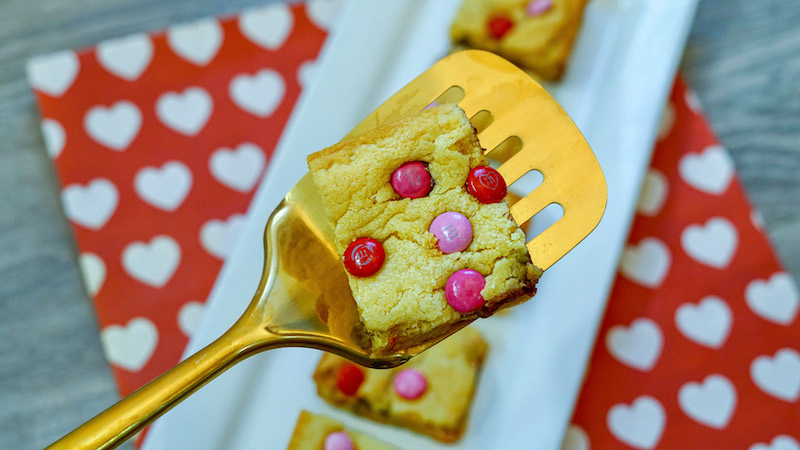 Valentine's Cake Mix Cookie Bars Recipe From Val's Kitchen