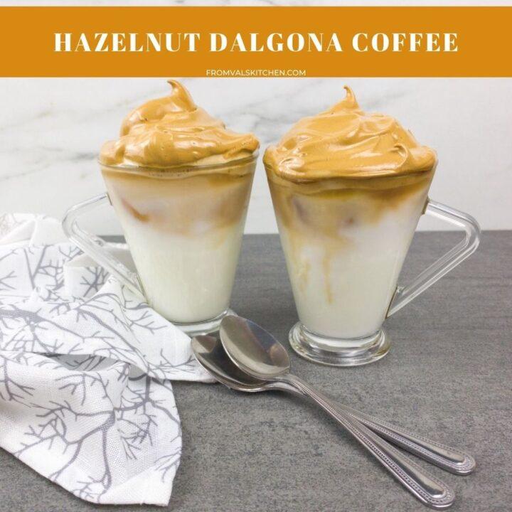 Hazelnut Dalgona Coffee