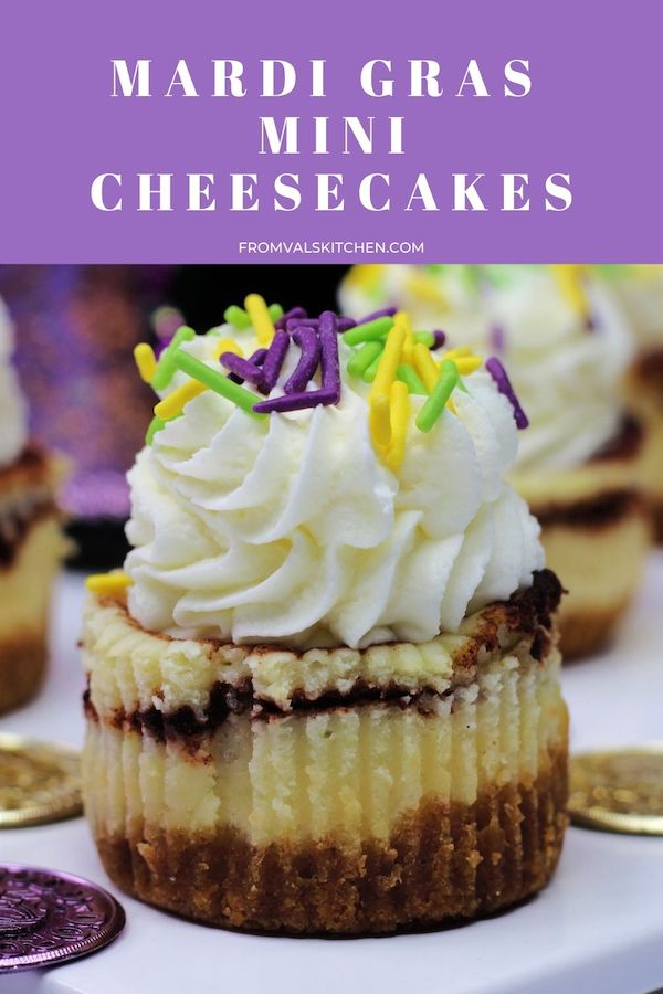 Mardi Gras Mini Cheesecakes Recipe From Val's Kitchen