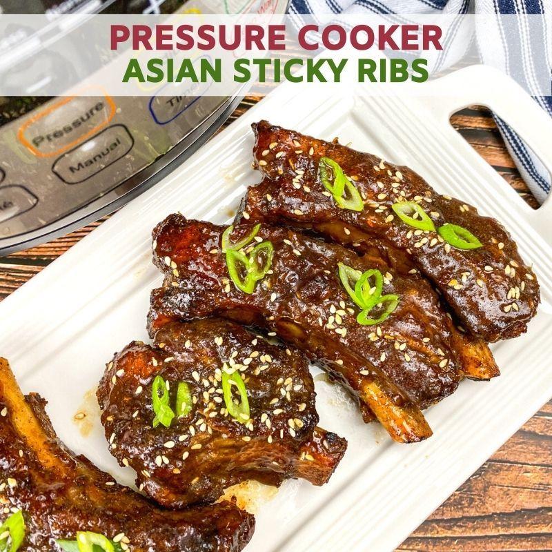 Pressure Cooker Asian Sticky Ribs Recipe